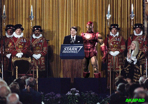 Ronald Reagan meets Iron Man
