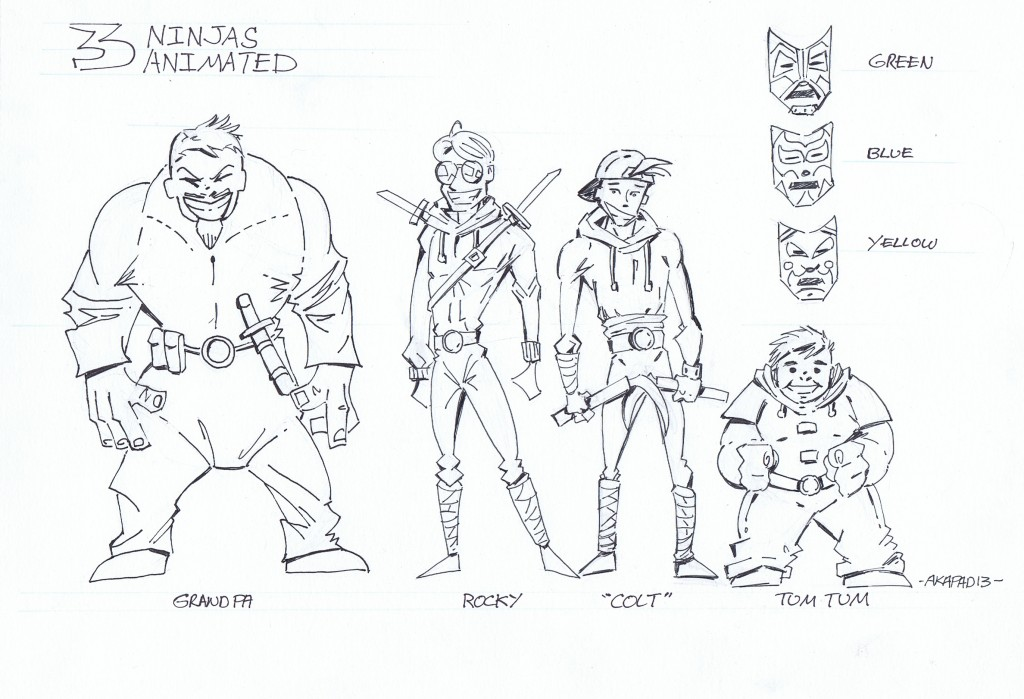 3_ninjas_animated_character_line_up